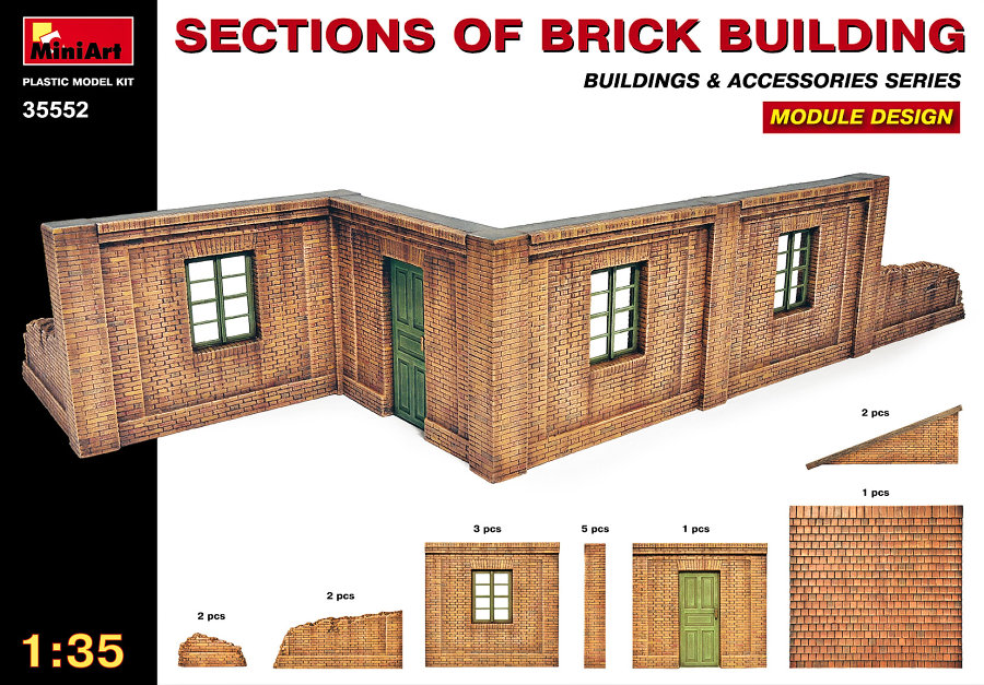 MiniArt 1/35 Sections of Brick Building # 35552