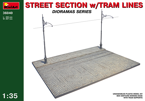 MiniArt 1/35 Street Section with Tram Lines # 36040