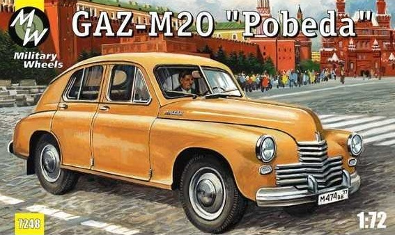 Military Wheels 1/72 GAZ-M20 Pobeda Soviet car # 7248