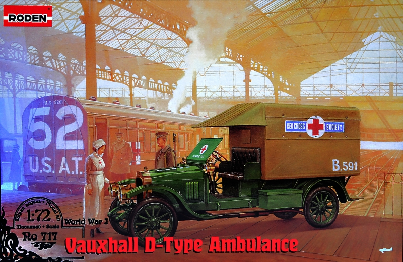 Roden 1/72 Vauxhall D-type Red cross # 717