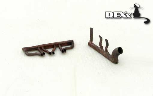 Rexx 1/72 Metal Exhausts I-16 type 17/24/29 (All kits) # 72017
