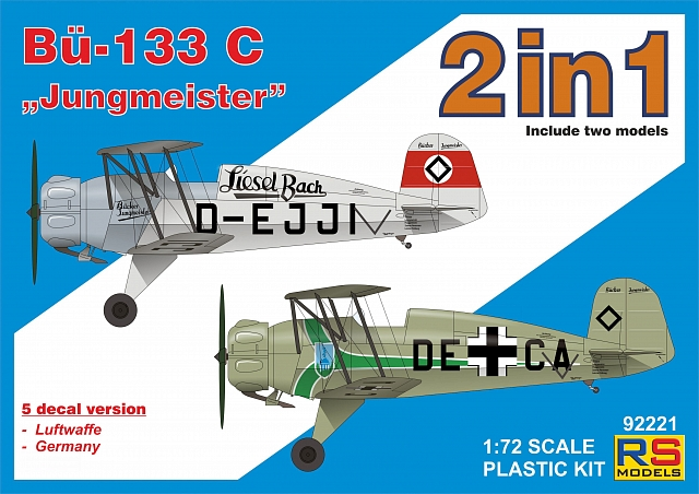 "RS Models 1/72 Bucker Bu-133C ""Jungmeister"" (2 in 1) # 92221"