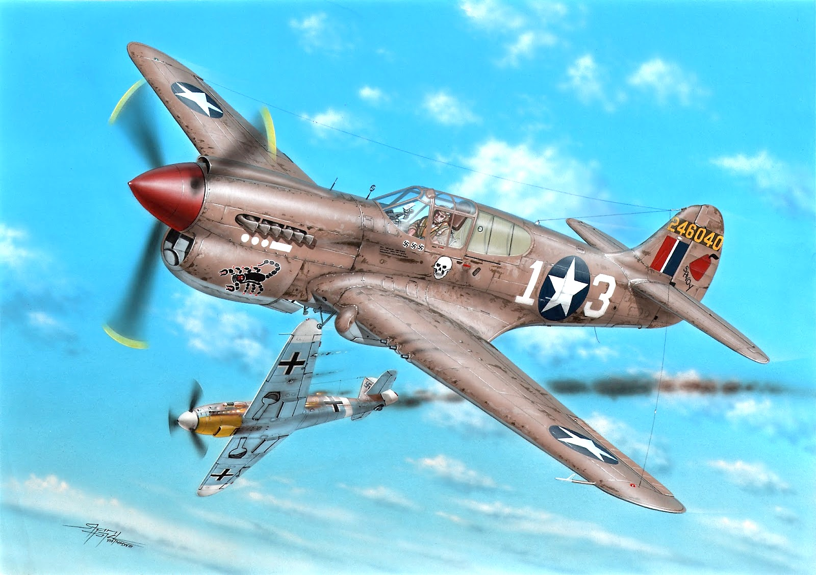 Special Hobby 1\72 P-40K Warhawk # 72379