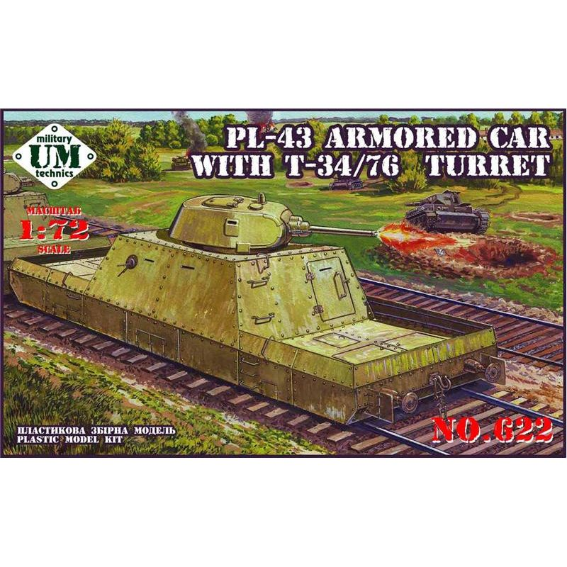 UMT 1/72 PL-43 armored car with T-34/76 turret # 622