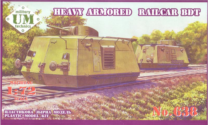 UMT 1/72 Heavy Armoured Railcar BDT # 638
