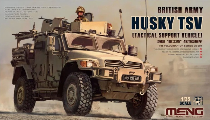 Meng Model 1/35 British Army HUSKY TSV (Tactical Support Vehicle) # VS-009